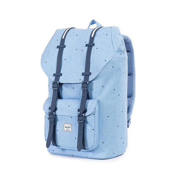 【EST】Herschel Little America 15吋電腦包 後背包 點點 淺藍 [HS-0014-757] F0810 2