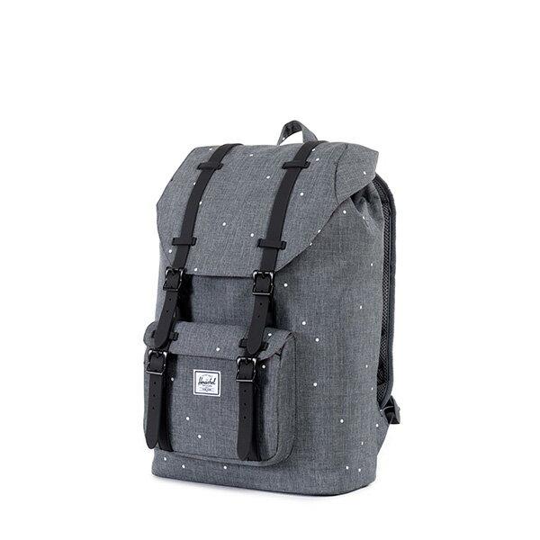 【EST】HERSCHEL LITTLE AMERICA MID 中款 13吋電腦包 後背包 點點 灰 [HS-0020-756] F0810 2