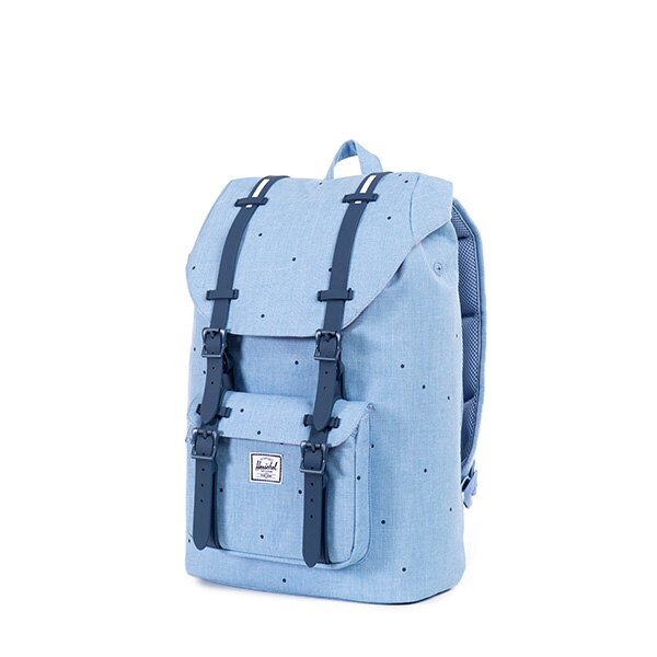 【EST】Herschel Little America Mid 中款 13吋電腦包 後背包 點點 淺藍 [HS-0020-757] F0810 2