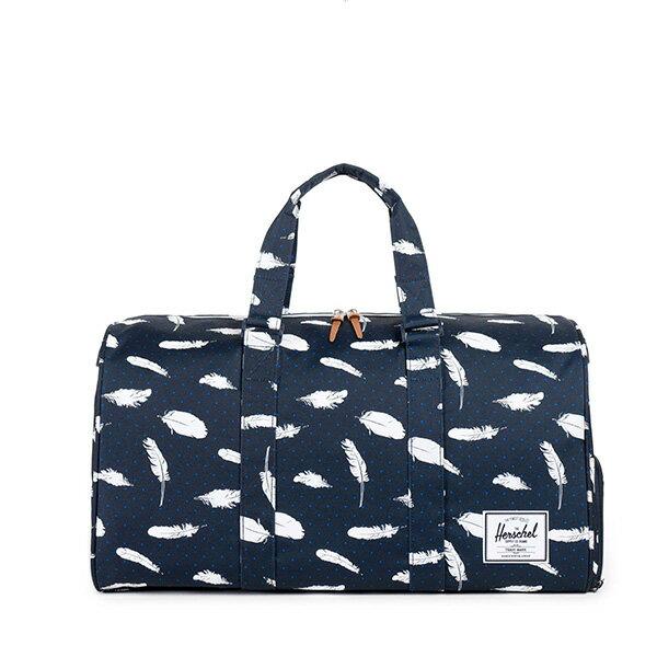 【EST】HERSCHEL NOVEL 圓筒 多功能 鞋箱 手提袋 旅行包 羽毛 藍 [HS-0026-760] F0810 0