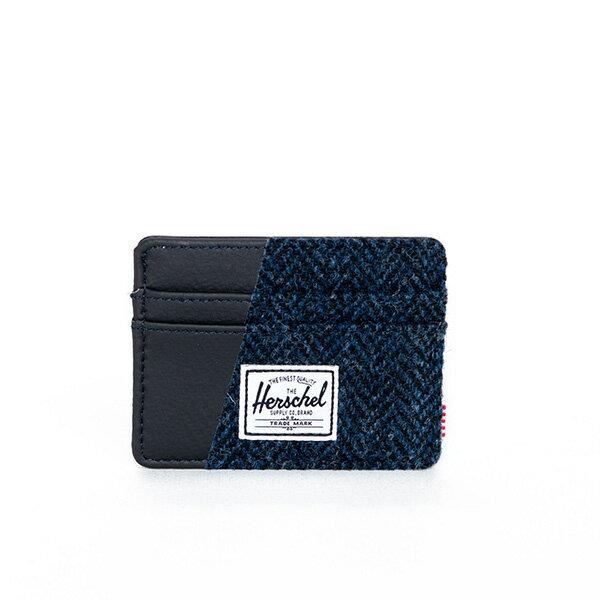 【EST】Herschel Charlie 橫式 卡夾 名片夾 證件套 人字紋 藍 [HS-0045-878] F1019 0