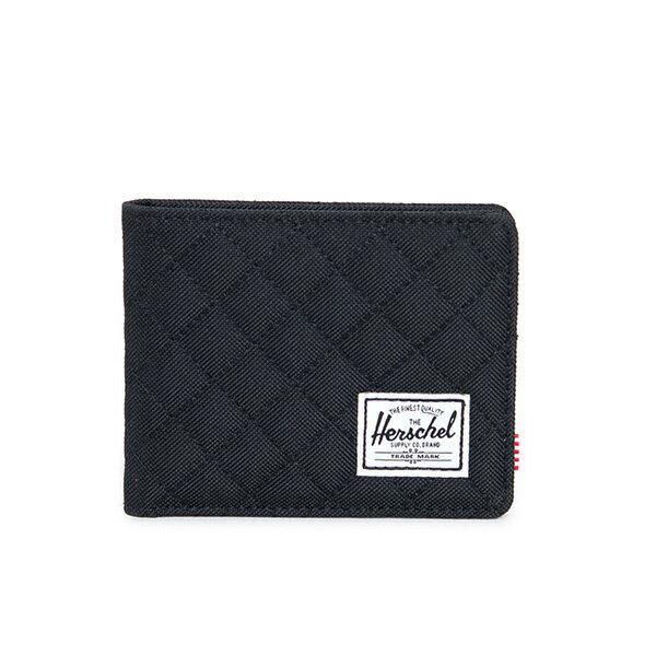【EST】HERSCHEL ROY WALLET 短夾 皮夾 錢包 菱格紋 黑 [HS-0069-866] F1019 0
