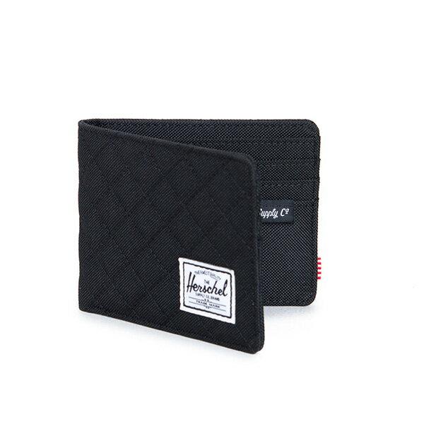 【EST】HERSCHEL ROY WALLET 短夾 皮夾 錢包 菱格紋 黑 [HS-0069-866] F1019 1