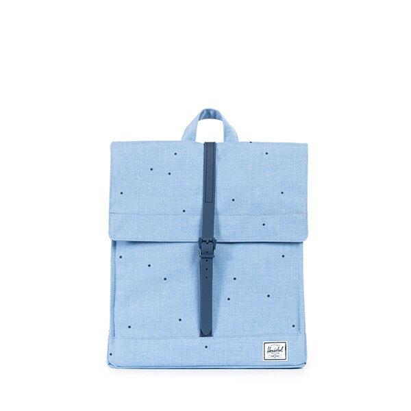 【EST】Herschel City 方形 後背包 點點 淺藍 [HS-0089-757] F0810 0