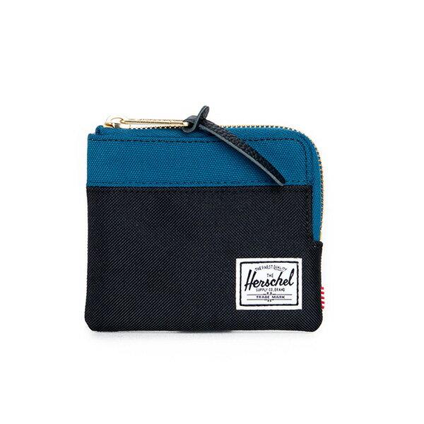【EST】Herschel Johnny Wallet 小皮夾 零錢包 黑藍 [HS-0094-869] F1019 0