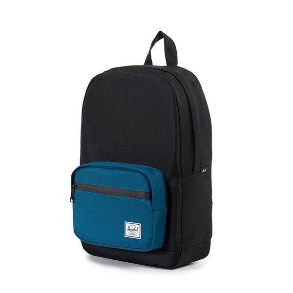 【EST】HERSCHEL POP QUIZ MID 中款 13吋電腦包 後背包 黑藍 [HS-0211-869] F1019 2