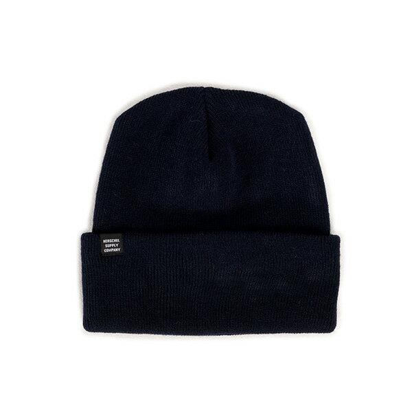 【EST】HERSCHEL FRANKFURT 針織 反摺 毛帽 深藍 [HS-1002-004] F1023 - 限時優惠好康折扣