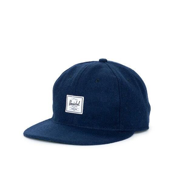 【EST】HERSCHEL RUNDLE 羊毛 後調式 棒球帽 藍 [HS-1009-038] F0819 0