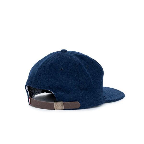 【EST】HERSCHEL RUNDLE 羊毛 後調式 棒球帽 藍 [HS-1009-038] F0819 1