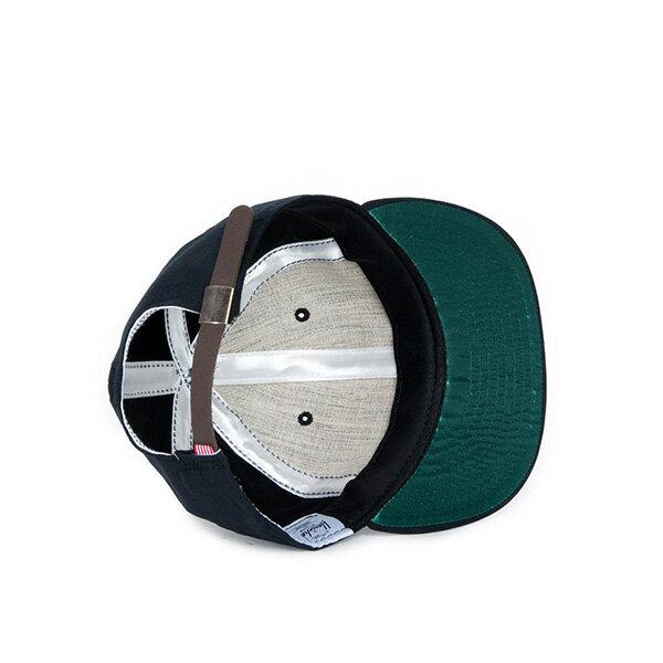【EST】HERSCHEL WOODBINE 大H 後調式 棒球帽 黑 [HS-1010-016] F0819 2