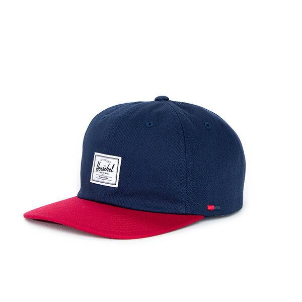 【EST】HERSCHEL ALBERT 後調式 棒球帽 拼色 藍紅 [HS-1020-026] F0819 0