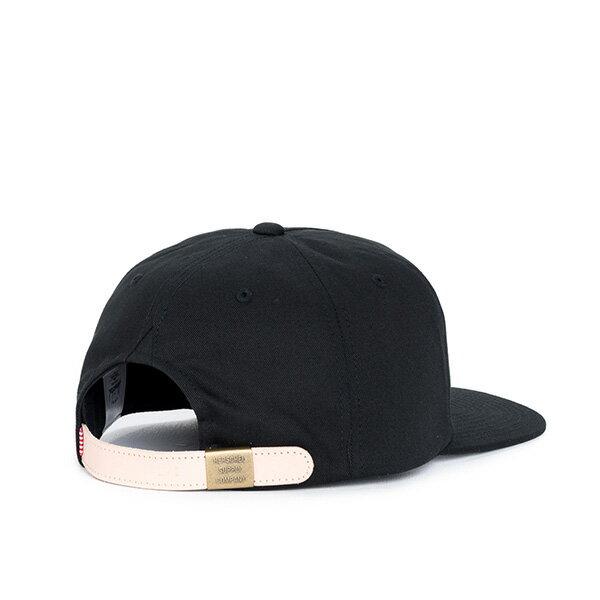 【EST】Herschel Niles 皮革 後調式 五分割帽 棒球帽 黑 [HS-1022-001] F0819 1