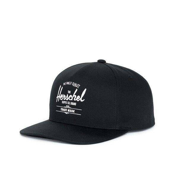 【EST】HERSCHEL WHALER 經典LOGO 後扣 棒球帽 黑 [HS-1026-001] F0819 0