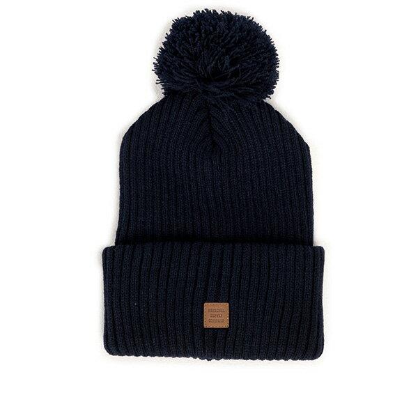 【EST】HERSCHEL ALPINE 針織 毛球 反褶 毛帽 深藍 [HS-1031-004] F0819 - 限時優惠好康折扣