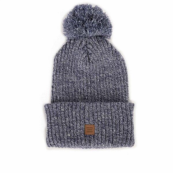 【EST】Herschel Alpine 針織 毛球 反褶 毛帽 雪花 藍 [HS-1031-010] F0819 - 限時優惠好康折扣