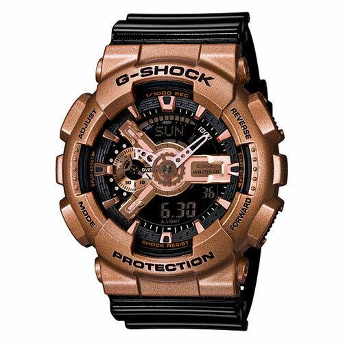 【EST O】G-Shock 雙顯 指針 防水 手錶 [GA-110GD-9B2JF] 玫瑰金 F0313