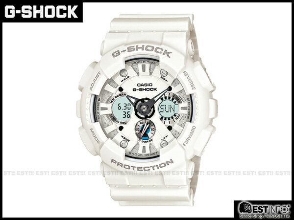 【EST O】G-Shock Baby-G Casio GA-120 卡西歐 防水 大錶面 三眼 手錶 [GA-120A-7A] 白 E0221
