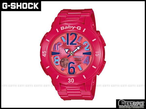 【EST O】G-Shock Baby-G Casio BGA-171 NEON MARINE SERIES 手錶 [BGA-171-4B1JF ] 桃紅 E0519