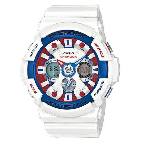 【EST O】G-Shock 鋼彈配色 太陽能 無線電 大錶面 手錶 白紅藍 [GA-201TR-7AJF] F0601
