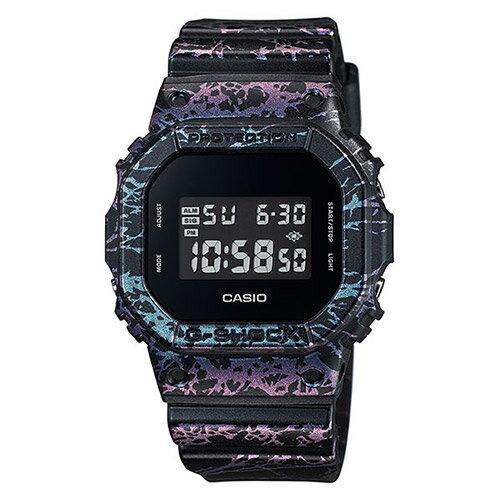 【EST O】G-Shock 限量 大理石 爆裂紋 手錶 [DW-5600PM-1JF] 黑紫 F0327 0