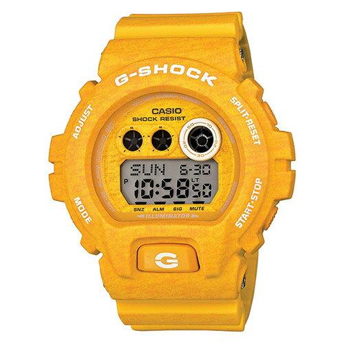 【EST O】G-Shock 日本限定 針織 木紋 大錶面 手錶 [GD-X6900HT-9JF] 黃 F0327 0