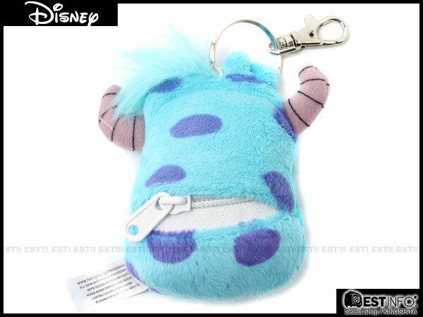 【EST】Disney 日本 迪士尼 怪獸大學 小錢包 鑰匙圈 吊飾 [DS-4004] 毛怪 E0305 1