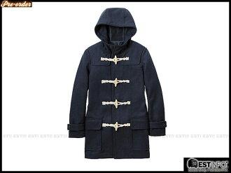【EST】UNIQLO x g.u. 2012 男 N3B 版 牛角扣 連帽 長版 大衣【228849/GU-2078】灰/深藍 S~L D0124