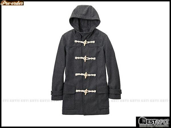 【EST】Uniqlo x G.U. 2012 男 N3B 版 牛角扣 連帽 長版 大衣 228849 灰/深藍 S~L [GU-2078-007] D0124 1