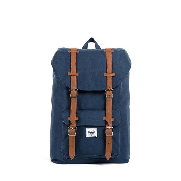 【EST】HERSCHEL LITTLE AMERICA MID 中款 13吋電腦包 後背包 藍 [HS-0020-007] F0810 0