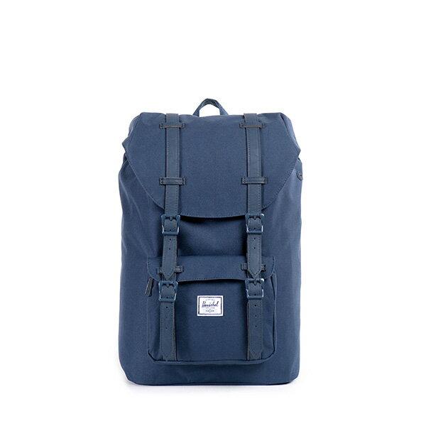 【EST】HERSCHEL LITTLE AMERICA MID 中款 13吋電腦包 後背包 全藍 [HS-0020-534] F0810 0