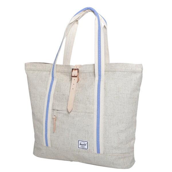 【EST】Herschel Market XL 磁扣帶 托特包 購物袋 側背包 肩背包 麻紡 米白 [HS-0030-714] F0429 1