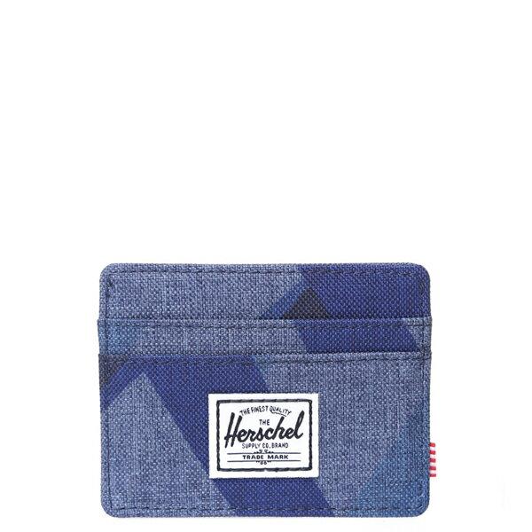 【EST】HERSCHEL CHARLIE 橫式 卡夾 名片夾 證件套 水墨 藍 [HS-0045-705] F0429 0