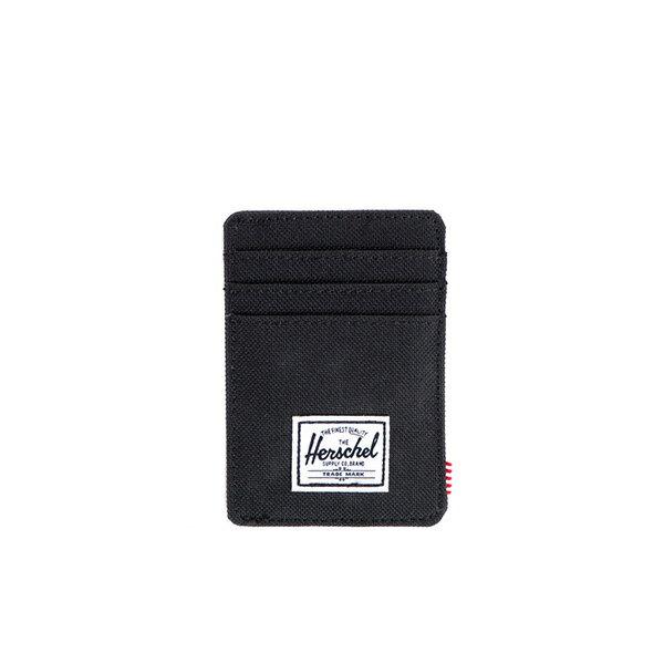 【EST】HERSCHEL RAVEN WALLET 直式 卡夾 名片夾 證件套 鈔票夾 黑 [HS-0048-001] F0421 0