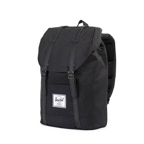 【EST】HERSCHEL RETREAT 15吋電腦包 後背包 全黑 [HS-0066-535] F0810 2