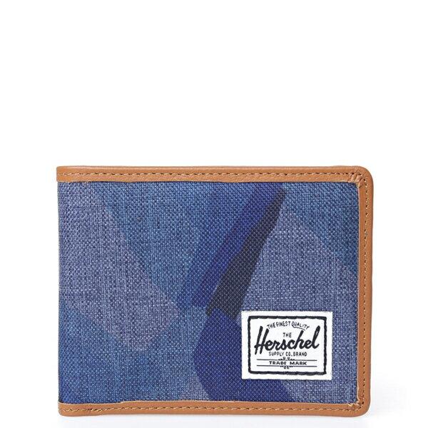【EST】Herschel Taylor Wallet 皮夾 短夾 錢包 滾邊 水墨 藍 [HS-0198-705] F0429 0