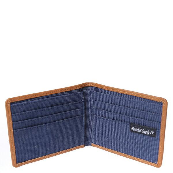 【EST】HERSCHEL TAYLOR WALLET 皮夾 短夾 錢包 滾邊 水墨 藍 [HS-0198-705] F0429 2
