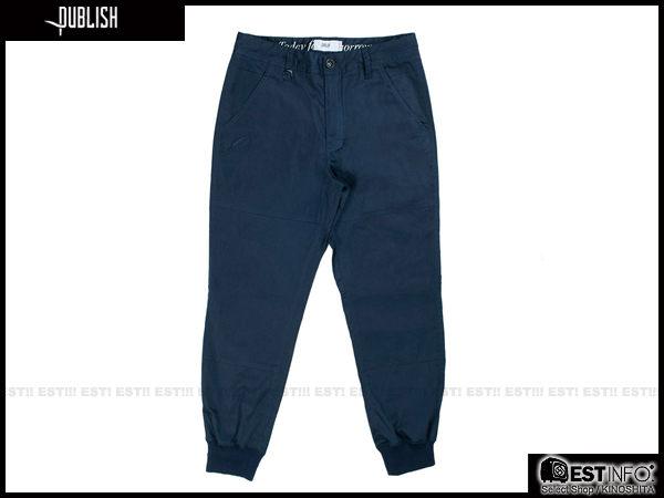 【EST】PUBLISH LEGACY JOGGER PANTS NAVY 長褲 工作褲 束口褲 [PL-4049-086] 深藍 W28~36 F1211 1