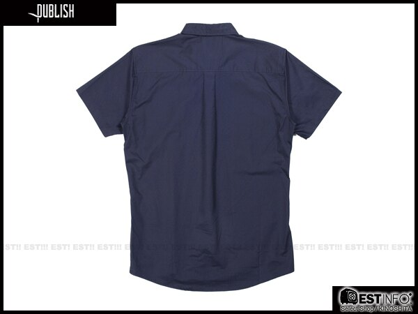 【EST】Publish Elias Shirt 刺繡 羽毛 拼接 點點 短袖 襯衫 深藍 [PL-5009-086] E0617 1