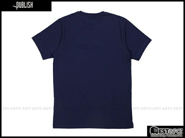 【EST】Publish Kenneth Tee 拼接 點點 短tee [PL-5012-086] 深藍 S~L E0617 1