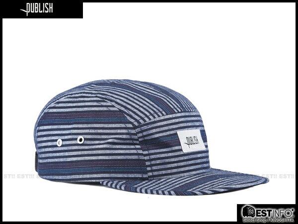 【EST】PUBLISH FERRIS SNAPBACK 條紋 民族風 拼接 可調式 五分割帽 [PL-5036] 深藍/酒紅/黑 E0711 1
