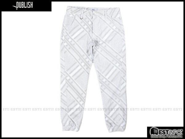 【EST】Publish Novelty Jogger Pants Bancroft 幾何 工作褲 長褲 束口褲 白 [PL-5057-001] E0819 0