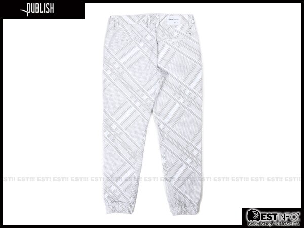 【EST】Publish Novelty Jogger Pants Bancroft 幾何 工作褲 長褲 束口褲 白 [PL-5057-001] E0819 1