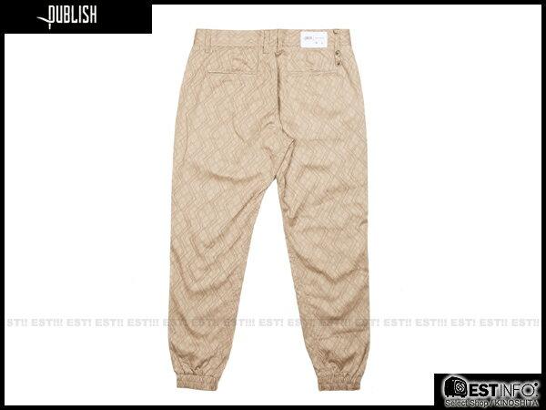 【EST】Publish Novelty Jogger Pants Clover 圖騰 工作褲 長褲 束口褲 卡其 [PL-5059-537] E0819 1