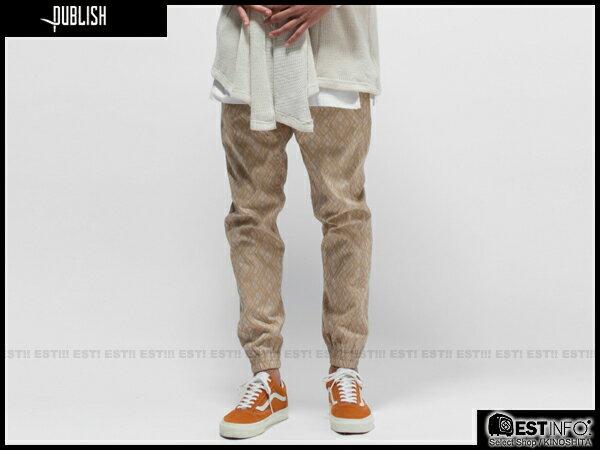 【EST】Publish Novelty Jogger Pants Clover 圖騰 工作褲 長褲 束口褲 卡其 [PL-5059-537] E0819 2