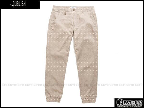 【EST】Publish Novelty Jogger Pants Nato 點點 工作褲 束口褲 褐 [PL-5062-065] E0819 0