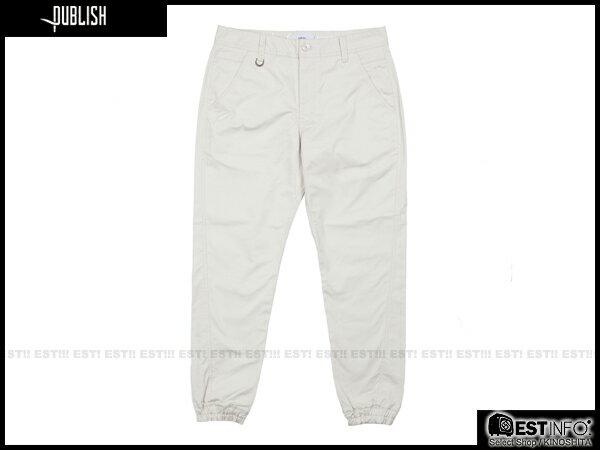 【EST】PUBLISH TAHOMA JOGGER 束口褲 [PL-5063-019] 白 W28~W34 E0912 0