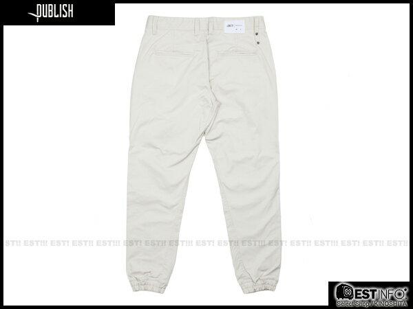 【EST】PUBLISH TAHOMA JOGGER 束口褲 [PL-5063-019] 白 W28~W34 E0912 1