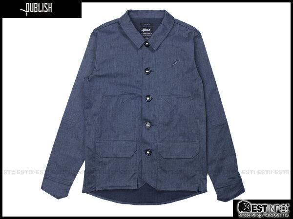 【EST】PUBLISH HAWK 英倫風 厚磅 外套 [PL-5078-086] 深藍 S~L E0912 0