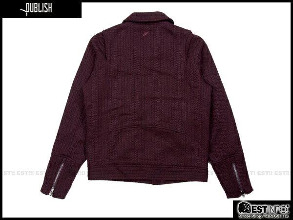 【EST】PUBLISH RYDER 厚磅 拉鍊 夾克 外套 [PL-5084-072] 酒紅 S~XL E0912 1