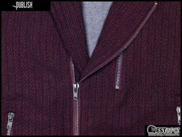 【EST】PUBLISH RYDER 厚磅 拉鍊 夾克 外套 [PL-5084-072] 酒紅 S~XL E0912 2